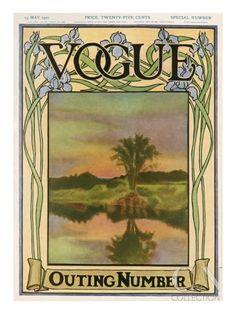 size: Premium Giclee Print: Vogue Cover - May 1907 Art Print : Artists Art Nouveau, Art Deco, Vintage Vogue Covers, Jugendstil Design, Pastel Sunset, Vogue Magazine Covers, Poster Prints, Art Prints, Posters