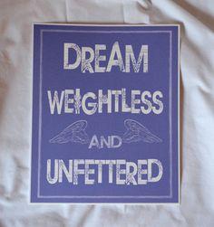 8 x 10 Giclee Art #Print - Dream Weightless