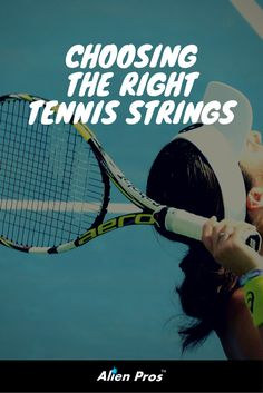 Different models of #tennis strings provide us with different benefits on the court. Choosing a right one can make a noticeable difference in our game.