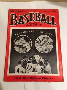 the original baseball magazine October 1952 Yankees Pennant Clincher Issue