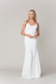 Sarah Seven collection - Perry gown #sarahseven #sarahsevenloveclub #bridal