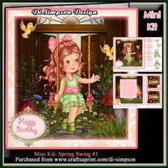 Mini Kit Spring Swing 1 on Craftsuprint - Add To Basket!