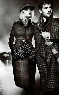 Gabriella Wilde and Roo Panes for Burberry Autumn/Winter 2012 Campaign
