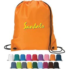 Pack up and go in style with a drawstring sport pack ;s branded with your logo or theme.  Available in sixteen vibrant color options, this sport pack is a budget friendly way to create a buzz for new products and services or help build traffic at trade shows and conventions. Lightweight casual style, a spacious compartment, and double drawstrings that close tight for security.