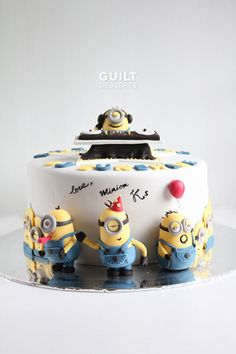 Minions Birthday Party! - by guiltdesserts @ CakesDecor.com - cake decorating website
