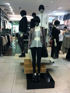 AW12 'stackable' mannequin treatment