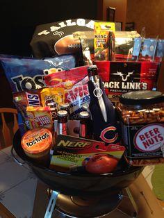 Gift basket for fundraiser.  Tailgate basket