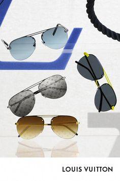 173ca5b5b7171 Les lunettes de soleil Clockwise de Louis Vuitton. Déclinées dans un  coloris fluo inspiré de la collection Homme Automne-Hiver 2018, ces lunettes  de soleil ...