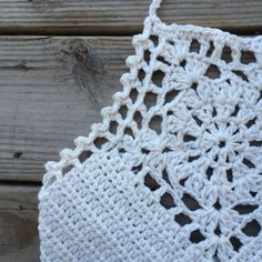 Festival Halter Crochet Crop Top || Natural