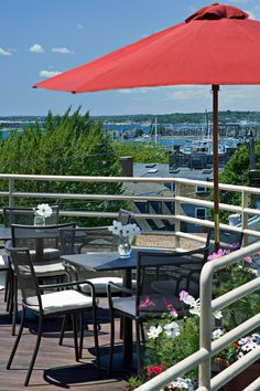 Just a two-minute walk from the waterfront, the inn's deck has picture-perfect harbor views. #Jetsetter Mill Street Inn, Newport RI