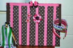 ♥Time Well Spent♥: How to make a board hair bow holder.