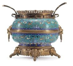 A French 'Japonisme' ormolu and cloisonne enamelled jardinie