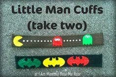 I Am Momma - Hear Me Roar: Little Man Cuffs (take two)Design made using Freezer Paper stencils.
