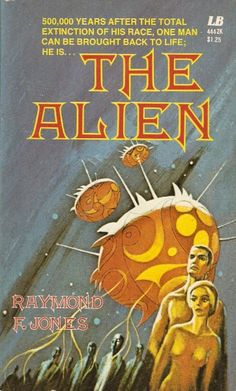 JACK GAUGHAN - art for The Alien by Raymond F. Jones - Leisure Books - (also The Counterfeits by Leo F. Kelley - 1967 Belmont)