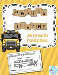 Mme Émilie: L'autobus scolaire 1st Day Of School, School Days, Back To School, Health Education, Physical Education, School Bus Crafts, Bus Safety, Core French, Starting School