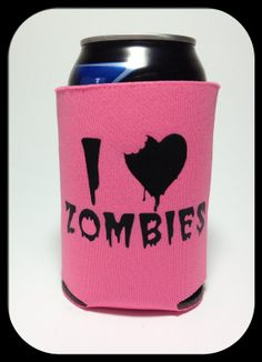 $4 - I Heart Zombies Cold Can Koozie Pick A Color