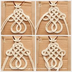 iLoveToCreate Blog: DIY Dip Dye Macramé Necklace