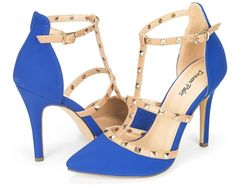 OPPOINTED-ANKLE Women's Pointed Toe Ankle Strap High Heel Stiletto Pumps Shoes.