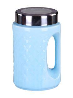 1425=Банка с ручкой 20 см., шт PATRICIA. Цвет голубой.