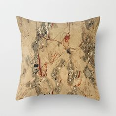 Marble Texture 75 Throw Pillow by Robin Curtiss - $20.00
