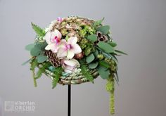 """#Bridal #bouquet • Design: The """"Siberian orchid"""" School of Floristry from Russia"""