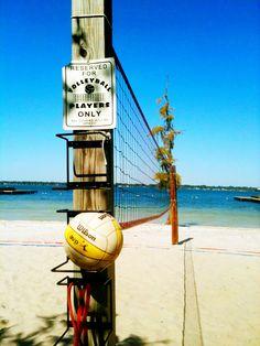 Beach volleyball.
