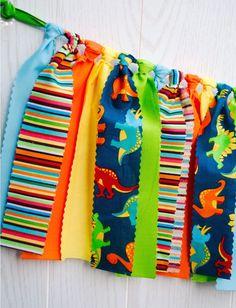 Dinosaur Party Fabric Bunting - FREE Shipping