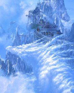 The Art Of Animation — Kazumasa Uchio Fantasy City, Fantasy Castle, Fantasy Places, Sci Fi Fantasy, Fantasy World, Fantasy Art Landscapes, Fantasy Landscape, Fantasy Artwork, Landscape Art