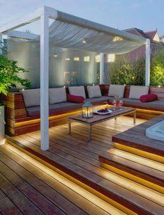 Aménagement terrasse extérieure beau et simple...