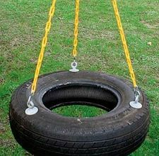 I had a flat- kept the damaged tire to make a swing this spring! Nice!