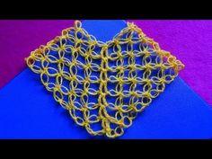 Como tejer el Punto Salomón triangular en tejido crochet o ganchillo tutorial paso a paso. - YouTube