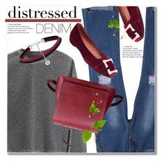 """distressed denim"" by svijetlana ❤ liked on Polyvore featuring denim, distressed and zaful"