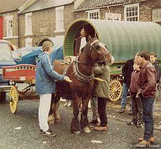 English Gypsy caravan, Gypsy wagon, Gypsy waggon and vardo: John Pockett at Yarm Fair 2011