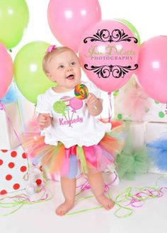 PERSONALIZED Lollipop Birthday Tutu Outfit