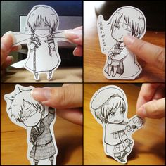 Chibi cut-outs---- I need to make some of these!!!! X3
