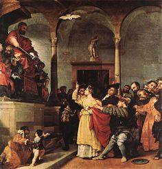 Saint Lucia Before The Judge by Lorenzo Lotto