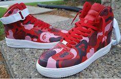 Custom Painted Nike Air Force One @ianjpaintedit