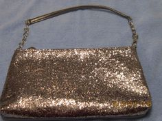 "ION Silver Sequin Clutch Handbag/Purse with Strap 10.5"" X 6.25"" X 1.25""  #Ion #Clutch"