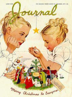 Ladies Home Journal, December 1945, illustrated by Al Parker