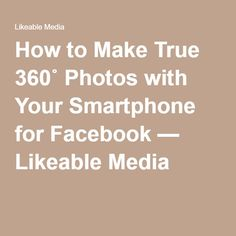 How to Make True 360