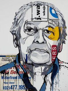Jasper Knight: Bill Wright AM :: Archibald Prize 2010 :: Art Gallery NSW