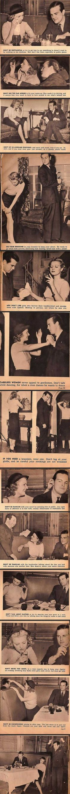 13 Hilarious and Sexist Dating Tips From 1938...