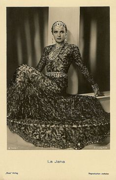 German dancer and film actress La Jana (1905 - 1940) was the most popular show girl of Berlin in the 1930's