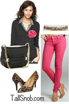 Hot pink jeans - oh yeah!