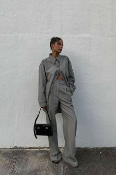 Grey Fashion, Winter Fashion, Fashion Looks, Fashion Outfits, Lauren Johnson, Gray Aesthetic, Trends, Mode Inspiration, Ethical Fashion