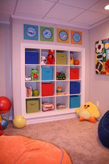 Basement Playroom Storage - Core System