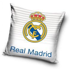 Bílé povlaku na polštář s dětským motivem fotbalového klubu