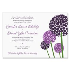 Use your wedding flowers on your invite. Cute tie-in.