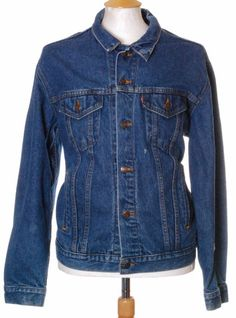 Vintage Blue Levi Strauss 70506 slim denim trucker jacket - Extra Large #EasyPin