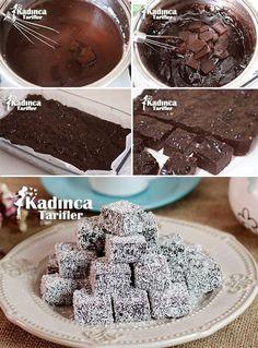 Chocolate Delight Recipe, How To - Taraab عالم Lokum Recipe, Saffron Cake, Chocolate Delight, Caramel Cookies, Pastry Cake, Turkish Recipes, Mini Desserts, Ice Cream Recipes, Mini Cakes
